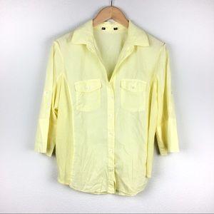 Standard James Perse Yellow Contrast Panel Shirt
